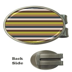 Stripey 12 Money Clips (oval)