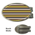 Stripey 12 Money Clips (Oval)  Front