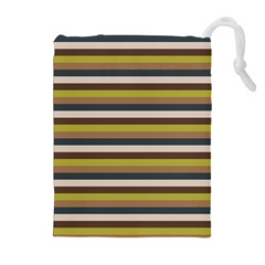 Stripey 12 Drawstring Pouch (xl) by anthromahe