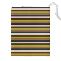 Stripey 12 Drawstring Pouch (3xl) by anthromahe