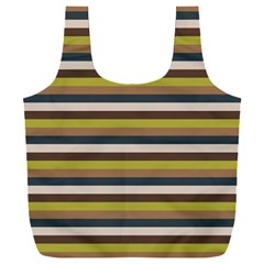 Stripey 12 Full Print Recycle Bag (xxl) by anthromahe
