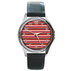 Stripey 13 Round Metal Watch