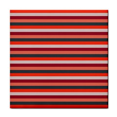 Stripey 13 Tile Coaster