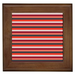 Stripey 13 Framed Tile