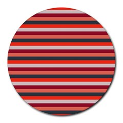 Stripey 13 Round Mousepads by anthromahe