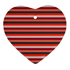 Stripey 13 Ornament (Heart)