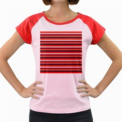 Stripey 13 Women s Cap Sleeve T-Shirt