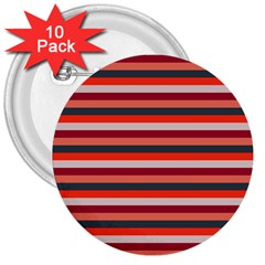 Stripey 13 3  Buttons (10 pack)