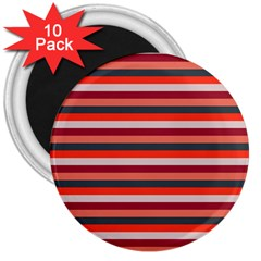 Stripey 13 3  Magnets (10 pack)