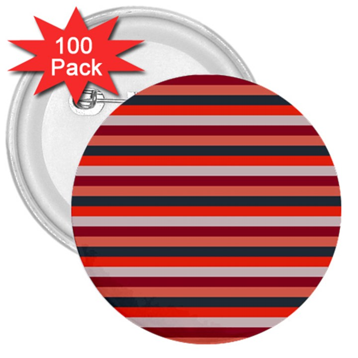 Stripey 13 3  Buttons (100 pack)