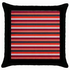 Stripey 13 Throw Pillow Case (Black)