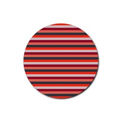 Stripey 13 Rubber Round Coaster (4 pack)