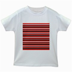 Stripey 13 Kids White T-Shirts