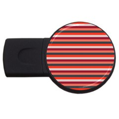 Stripey 13 USB Flash Drive Round (2 GB)