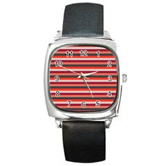 Stripey 13 Square Metal Watch