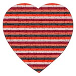 Stripey 13 Jigsaw Puzzle (Heart) Front