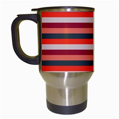 Stripey 13 Travel Mugs (White)