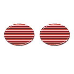 Stripey 13 Cufflinks (Oval)