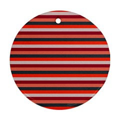 Stripey 13 Round Ornament (Two Sides)