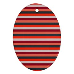 Stripey 13 Oval Ornament (Two Sides)