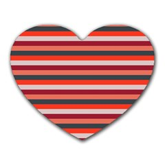 Stripey 13 Heart Mousepads