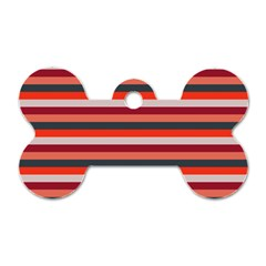 Stripey 13 Dog Tag Bone (One Side)