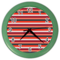 Stripey 13 Color Wall Clock