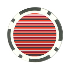 Stripey 13 Poker Chip Card Guard