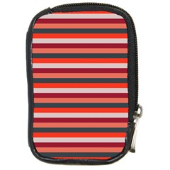 Stripey 13 Compact Camera Leather Case