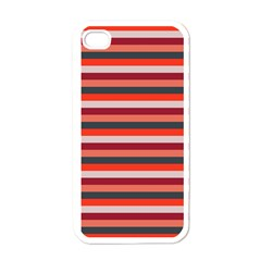 Stripey 13 iPhone 4 Case (White)