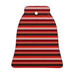 Stripey 13 Bell Ornament (Two Sides) Front