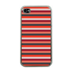 Stripey 13 iPhone 4 Case (Clear)