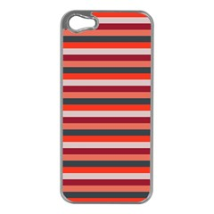 Stripey 13 iPhone 5 Case (Silver)