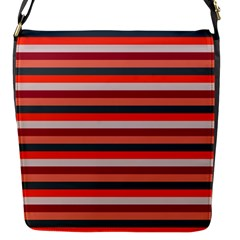 Stripey 13 Flap Closure Messenger Bag (S)