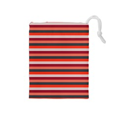 Stripey 13 Drawstring Pouch (Medium)