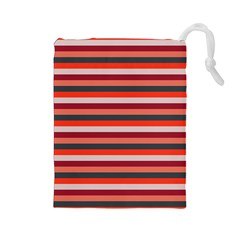 Stripey 13 Drawstring Pouch (Large)