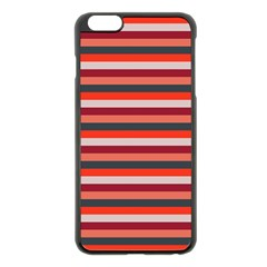 Stripey 13 iPhone 6 Plus/6S Plus Black Enamel Case