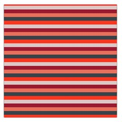 Stripey 13 Large Satin Scarf (Square)