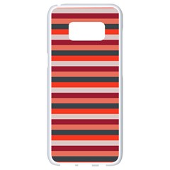 Stripey 13 Samsung Galaxy S8 White Seamless Case