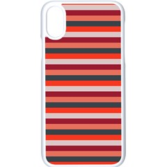 Stripey 13 iPhone X Seamless Case (White)