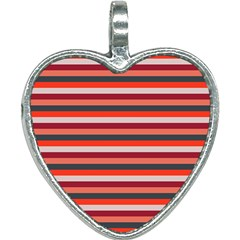 Stripey 13 Heart Necklace