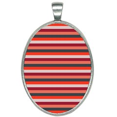 Stripey 13 Oval Necklace