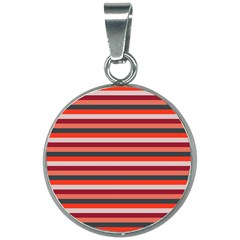 Stripey 13 20mm Round Necklace