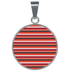 Stripey 13 25mm Round Necklace