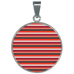 Stripey 13 30mm Round Necklace