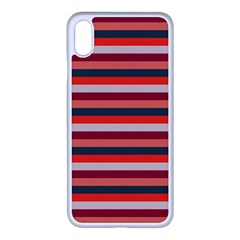 Stripey 13 iPhone XS Max Seamless Case (White)