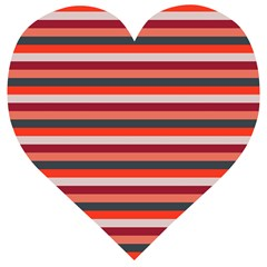 Stripey 13 Wooden Puzzle Heart