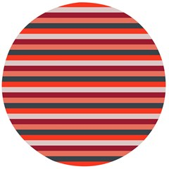 Stripey 13 Wooden Bottle Opener (Round)