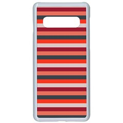 Stripey 13 Samsung Galaxy S10 Seamless Case(White)