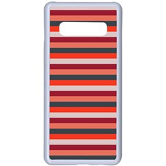 Stripey 13 Samsung Galaxy S10 Plus Seamless Case(White)